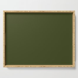 Solid Chive/Herb/Green Pantone Color  Serving Tray