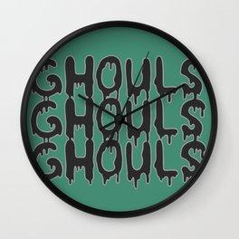 ghouls ghouls ghouls Wall Clock