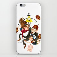 gravity falls iPhone & iPod Skins featuring Gravity Falls Hug by Super Group Hugs