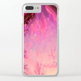 Red sky orb Clear iPhone Case
