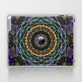Purple Yin Yang Sacred Geometry Fractals Laptop & iPad Skin