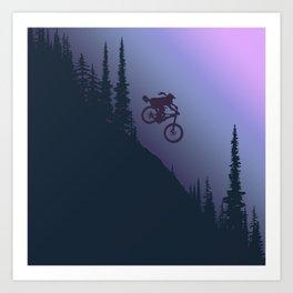 Fox Ride Art Print