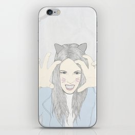Cat girl iPhone Skin