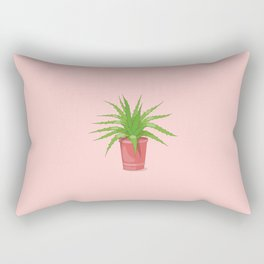 aloe on the pink Rectangular Pillow