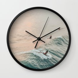 summer waves iv Wall Clock