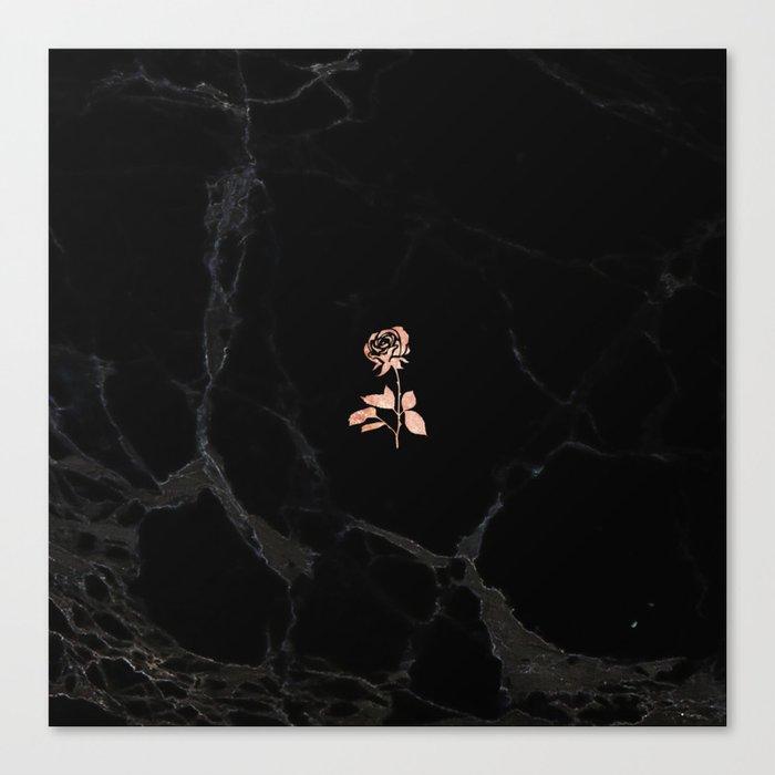 Forever Petal (Black Rose) Leinwanddruck