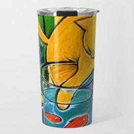 Henri Matisse - Cat With Red Fish still life painting Travel Mug