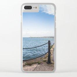 Dun Laoghaire pier Clear iPhone Case