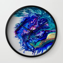 Cosmic Blue Thistle Wall Clock