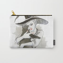 the witch with the cat Carry-All Pouch