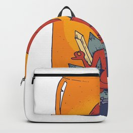 Meditating Alien Backpack