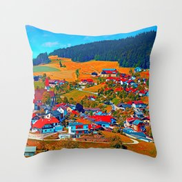 A villages sees red Throw Pillow