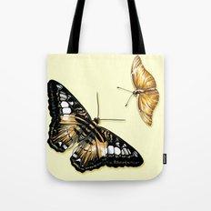 Papillon jaune et noir Tote Bag