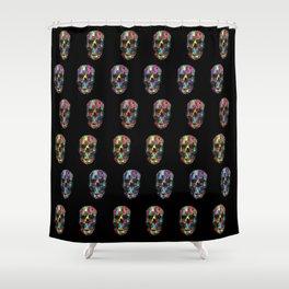 skulls pattern Shower Curtain
