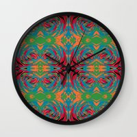 baroque Wall Clocks featuring baroque pop by Matthias Hennig
