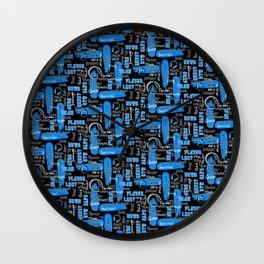 Gamer Lingo-Black and Blue Wall Clock