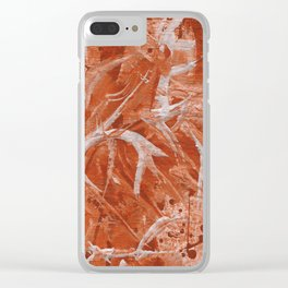 Abstract Fly ( Texture ) Clear iPhone Case
