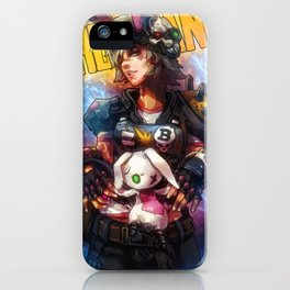 Tiny tina Borderlands 3 videogame artwork watercolor video game gamer gift mancave decor iPhone Case