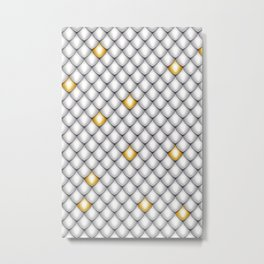 Fish Scale Pattern Design Metal Print