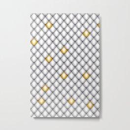 Fish Scale Pattern Design Metal Print