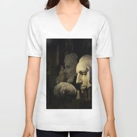 rushmore V-neck T-shirts featuring Faces of Rushmore by Judith Lee Folde Photography & Art