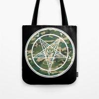 pentagram Tote Bags featuring Pentagram Camo by Parin Cashmony