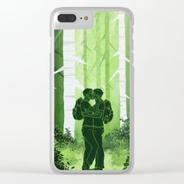Sterek Forest Love Clear iPhone Case