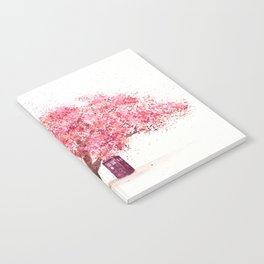 Tardis Tree Art Blossom Notebook