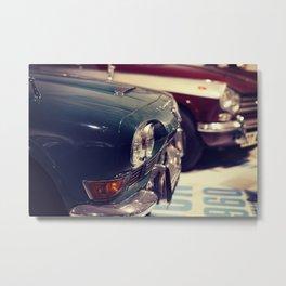 classic 1970s car showroom Metal Print