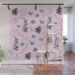 Indoor plants Pink Wall Mural