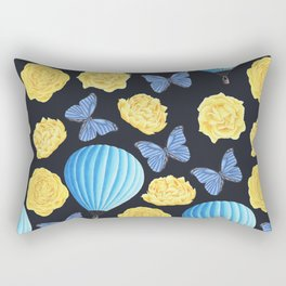 cute air baloons, flowers and yellow roses pattern Rectangular Pillow
