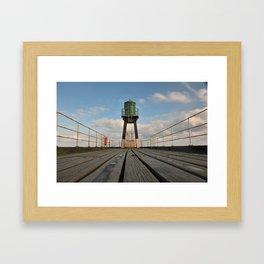 Whitby pier Framed Art Print