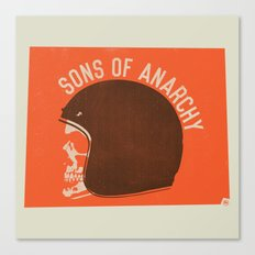 Sons of Anarchy Skull Helmet Canvas Print