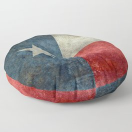 Texas State Flag, Retro Style Floor Pillow