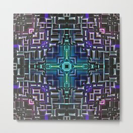 Sci Fi Metallic Shell Metal Print