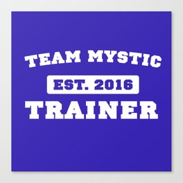 Pokémon Go - Team Mystic Team Shirt Canvas Print