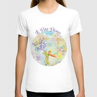 le petit prince T-shirts featuring Le Petit Prince- The little Prince flying by Colorful Simone