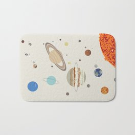 The Solar System - Planets, Moons, and Dwarf Planets Bath Mat