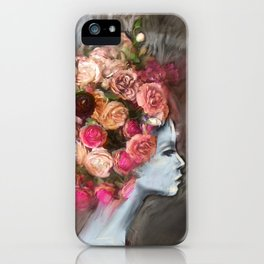 Flower Bloom Girl iPhone Case
