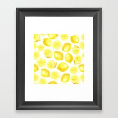 Watercolor lemons design Framed Art Print