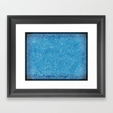 Constitutional Blueprint Framed Art Print