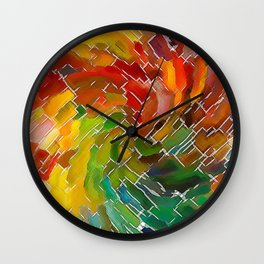Upright Stained Twist Wall Clock
