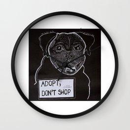 Adopt, don't shop Wall Clock