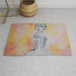Portrait of lady Natasha Circus Performer Rug