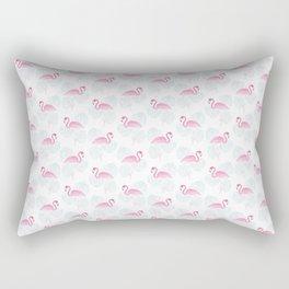 Tropical Flamingo Print Rectangular Pillow