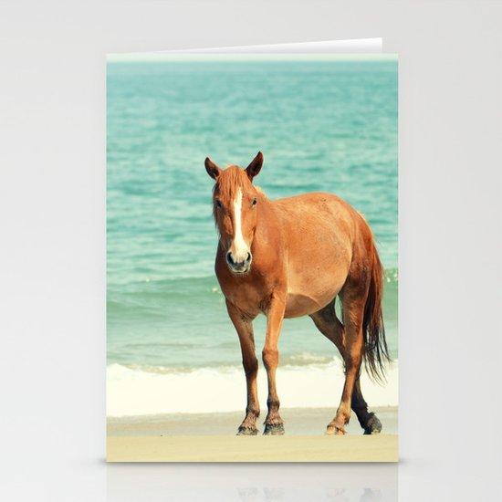 Wild Mustang of Carova, NC Stationery Cards