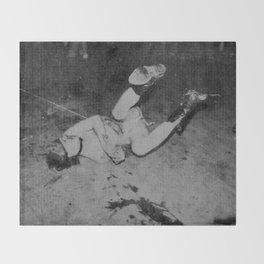 GG Allin on the floor Throw Blanket