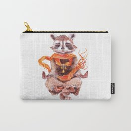 Raccoon buddha w Carry-All Pouch