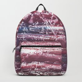 Red violet marble abstract watercolor Backpack