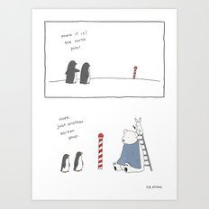 North Pole  Art Print